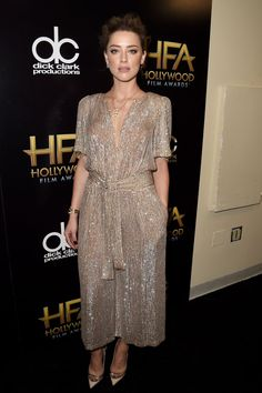 Pin for Later: With These Gowns, You'd Be Forgiven For Thinking the Hollywood Film Awards Were a Fashion Party Amber Heard Amber Heard wore a sparkling Temperley jumpsuit.