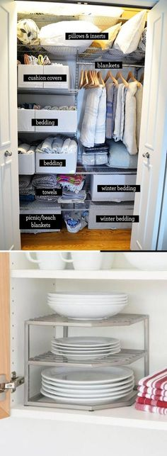 Customize your kitchen cabinets with storage and organization that suits your needs and lifestyle. Kitchen Storage Hacks, Kitchen Hacks, Kitchen Organization, Storage Ideas, Kitchen Ideas, Simple Diy, Easy Diy, Diy Ideas, Decor Ideas