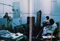 Great shot of the Beatles' recording sessions at Apple, for 'Let It Be'