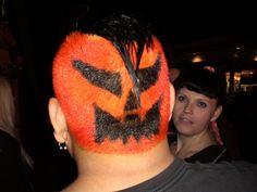 Halloween hair - pumpkin style!