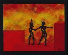 Moose Art, Animals, Painting, Rooftop Patio, Dance, Canvas, Art Ideas, Painting Art, Nice Asses
