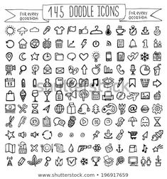 Vector Doodle Icons Universal Set Stock Vector (Royalty Free) 196917659 Discover this and millions of other royalty-free stock photos, illustrations, and vectors in the Shutterstock collection. Thousands of new, high-quality images added every day. Bullet Journal School, Bullet Journal Banner, Bullet Journal Notebook, Bullet Journal Ideas Pages, Bullet Journal Inspiration, Bullet Journal Icons, Kritzelei Tattoo, Poke Tattoo, Tiny Tattoo