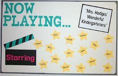 Now Playing...Movie & Hollywood Themed Bulletin Board Idea