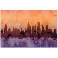 Trademark Fine Art Chicago Illinois Skyline Iii Canvas Art by Michael Tompsett, Size: 22 x 32