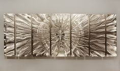 New Contemporary Metal Abstract Silver Wall Art by statements2000, $225.00