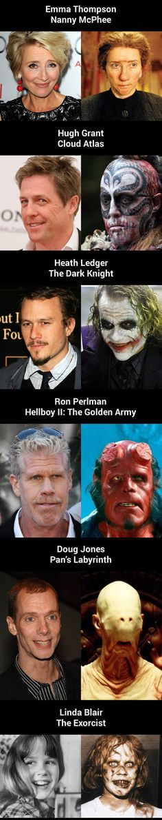 How Much Movie Makeup Can Change An Actor's Face