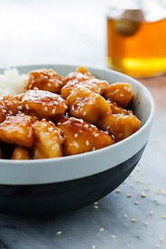 Easy Slow Cooker Honey Sesame Chicken | Try this delicious recipe for your next family gathering!
