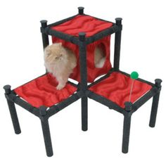 A Modular Cat Playground That Looks Great Kitty Hawk, Cat Playground, Cat Condo, Fat Cats, Cat Furniture, Cool House Designs, Starter Kit, Pet Supplies, Looks Great