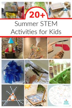 Have some fun learning and playing this summer. An awesome collection of cool summer STEM activities for kids. Keep the kids busy all summer with science, engineering, math and technology activities. #summerstemactivities #summerscience #stemactivities #stemactivitiesforkids #summerlearning #engineeringchallenge #stemchallenge #summercampforkids #sciencecamp Educational Activities For Kids, Summer Activities For Kids, Math For Kids, Stem Activities, Learning Activities, Stem Learning, Play Based Learning, Kids Learning, Happy Mom