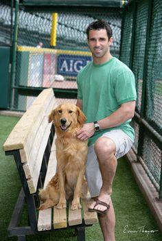 Brad Ausmus from the 2010 Astros Pet Calendar  (Source:Evin Thayer Studios)    Brad Ausmus…sure do miss him! His dog is beautiful! :-)