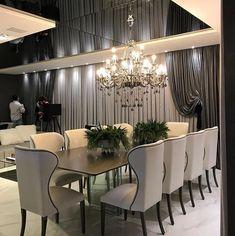 Dining room decorating – Home Decor Decorating Ideas Pink Dining Rooms, Elegant Dining Room, Luxury Dining Room, Dining Room Walls, Dining Room Design, Dining Room Furniture, Dining Lighting, Home Interior Design, Room Decor