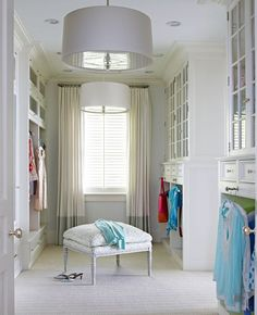 dressbarn Closet Confidential Sweepstakes Beautifully Organized Closets and Dressing Rooms - Traditional Home® [Promotional Pin] Dressing Room Closet, Dressing Room Design, Dressing Rooms, Closet Vanity, Closet Organization, Organization Ideas, Storage Ideas, Diy House Projects, Farrow Ball