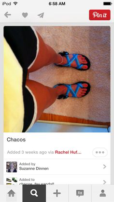 lazy day with chacos