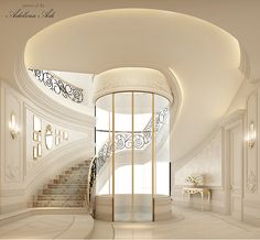 Luxury interior Design Company in Dubai UAE .IONS DESIGN one of the leading interior design Firms with world class designers.provides home designs , commercial retail and office designs Villa Interior, Interior Design Dubai, Mansion Interior, Design Interiors, Interior Ideas, Grand Staircase, Staircase Design, Luxury Staircase, Marble Staircase