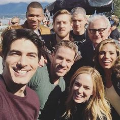 1st Day shooting on #LegendsofTomorrow! - from Brandon Routh's Twitter page.