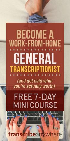 Most folks think general transcription means you're stuck working for beans at a big company. But LOTS of businesses hire transcriptionists!