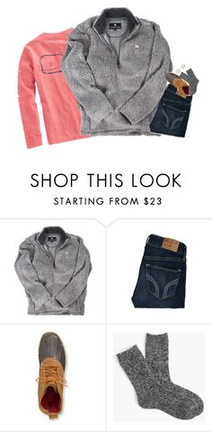 """""""OOTD☺️"""" by mac-moses ❤ liked on Polyvore featuring Vineyard Vines, Hollister Co., L.L.Bean, J.Crew and Honora"""