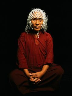 Electrodes measure a Tibetan monk's brain activity. http://science.nationalgeographic.com/science/health-and-human-body/human-body/mind-brain/