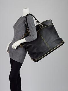 Louis Vuitton Black Suhali Leather Lockit Voyage Bag - Designers - 10054097