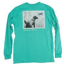 Southern Marsh Black Lab L/S T-Shirt- Jockey Green