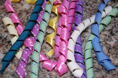 Pinkie for Pink: Tutorial: How to make Korker Ribbon Ribbon Curls, Ribbon Tutu, Crochet Tutu, How To Make Ribbon, Types Of Craft, Diy Hair Accessories, Printable Designs, Ribbon Crafts, Baby Headbands