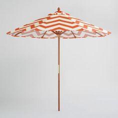 Orange Chevron Patio Umbrella