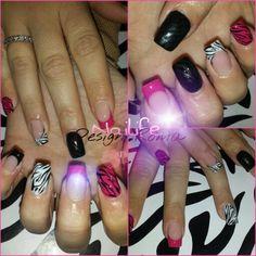 Zebra summer nails
