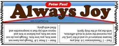 Almond Joy Spoof Knock off Bible Object Lessons, Bible Lessons For Kids, Bible For Kids, Christian Messages, Christian Gifts, Christian Quotes, Christian Halloween, Prayer Partner, Childrens Sermons