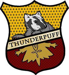 Thunderpuff Crest (Hufflepuff/Thunderbird mix) | Sticker