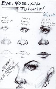 Eye, Nose, Lip Drawing Reference Guide | Drawing References and Resources | Scoop.it