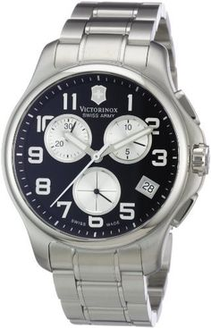 Victorinox Swiss Army Men's 241455 Officers Chrono Black Dial Watch Victorinox Swiss Army. $310.44. Water-resistant to 330 feet (100 M). Quartz movement. Antireflective-sapphire crystal. Stainless-steel case. Case diameter: 42 mm