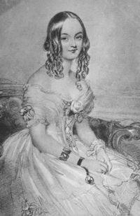 "Teresa, Contessa Guiccioli (1800 – 1873) was the mistress of Lord Byron whilst he was living in Ravenna, Italy, and writing the first five cantos of Don Juan. She wrote the biographical account Lord Byron's Life in Italy.   Alexandre Dumas included her as a minor character in his novel The Count of Monte Cristo using the disguised name ""Countess G-"". Lord Byron also used this shortened name in his journals."