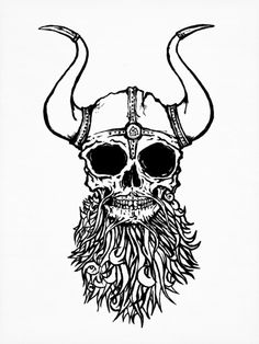 """Viking Skull Art Print"" on Designspiration"