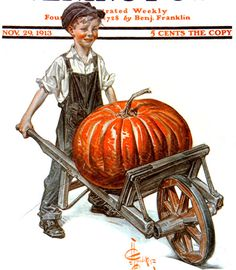 Picking the Pumpkin | The Saturday Evening Post - J.C. Leyendecker