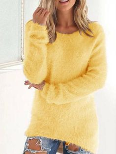 Plain Color Long Sleeve Sweater