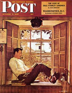 "Norman Rockwell Willie Gillis | Willie Gillis in College"" by Norman Rockwell, October 5 ,1946"