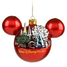 Treasure those Disney vacation memories with a Mickey icon ornament for your Christmas tree. Sculpted icons from across the Walt Disney World Resort seem to burst from Mickey's imagination. Disney World Christmas, Disney Christmas Ornaments, Mickey Mouse Christmas, Hallmark Ornaments, Noel Christmas, A Christmas Story, Walt Disney World, Christmas Decorations, Christmas Stuff