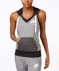 Shop Women's Nike size S Tops at a discounted price at Poshmark. Size small, brand new with tags. Athletic Wear, Athletic Tank Tops, Cute Workout Outfits, Sleeveless Hoodie, Fitness Fashion, What To Wear, Clothes For Women, Hoodies, My Style