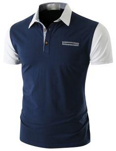 Doublju Men's Short Sleeve Pocket Polo Shirt (CMTTS014) #doublju Polo Shirt Style, Mens Polo T Shirts, Golf Shirts, Shirt Men, Business Casual Men, Men Casual, Casual Wear, Polo Fashion, Mens Kurta Designs