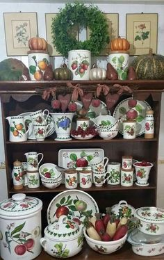 Portmeirion Pottery - Pomona Pattern - Cabinet Display.