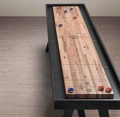 Shuffleboard Table… for the Groom building the best game room in the neighborhood.