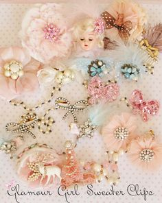 Jenn's fabulous and fun vintage sweater clip creations!
