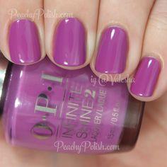 OPI Grape-ly Admired   Infinite Shine Collection   Peachy Polish #purple