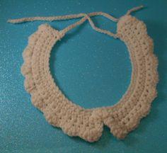 White Sweet Lolita crochet collar crocheted by MaidenLoliland, $22.00