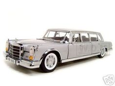 1966 Mercedes 600 Limousine Pullman Diecast Model Silver 1/18 Die Cast Car By Sunstar