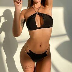 Sexy Bikini, Bikini Dos Nu, Cut Out Bikini, Bikini Swimsuit, Bikini Set, Women Bikini, Nylons, Biker, Boutique Lingerie