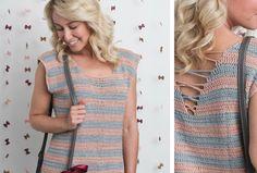 Bringing Back Bows Tee - I Like Crochet Moda Crochet, Free Crochet, Knit Crochet, Crochet Shirt, Crochet Crop Top, Knitting Patterns, Crochet Patterns, Cardigan, Crochet Clothes