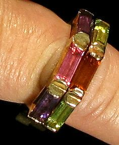 Yaacov Agam, Secret Ring - State VII (Jewelry), Precious Stones on Gold, Jewelry