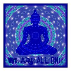 Oneness Mandala with Buddha posters