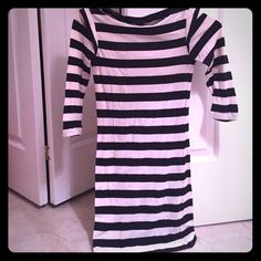 French connection striped dress French connection striped cotton dress. Black & white stripes. Size 0. Good condition. French Connection Dresses Long Sleeve